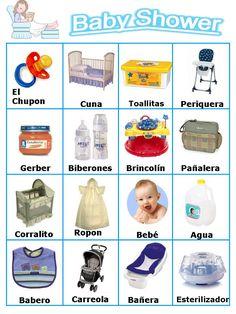 Bingo Baby Shower Para Imprimir | EL ENLACE ES UN DESCARGABLE ZIP DONDE ESTAN