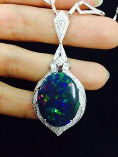 KAT FLORENCE Lightening Ridge Black Opal