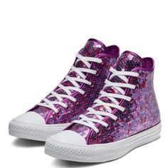 cbc70cdf2f98e Chuck Taylor All Star Holiday Scene Sequin High Top. ChaussureHautes  ConverseBaskets ...