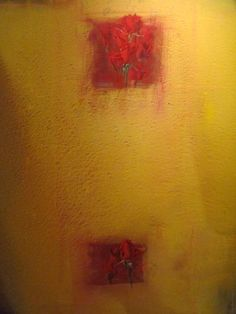 Red Roses on Yellow III, Painting, Mario Madiai Red Roses, Mario, The Originals, Yellow, Artist, Painting, Painting Art, Paintings, Painted Canvas