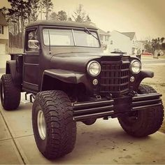 We bought a 1980 Jeep CJ for our sons high school graduation and worked on it. His Jeep was shown on all kinds of Jeep groups, websites and magazines. Jeep Pickup, Jeep Truck, Pickup Trucks, Old Jeep, Jeep Cj, Willis Pickup, Willys Wagon, Jeep Willys, Badass Jeep