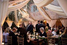 Tent wedding at Casa Feliz. Lighting by @Kaleidoscope Event Lighting. Photo by Kristen Weaver. #casafeliz