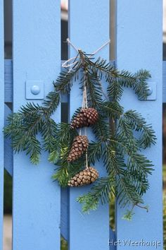 Simple little pine cone sprig for a touch of cheer.