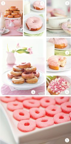 Can someone I know who loves donuts please get married so I can throw you a donut-themed shower? Dessert Bar Wedding, Dessert Bars, Donut Recipes, Cake Recipes, Donut Bar, Cute Snacks, Baby Shower, Bridal Shower, Homemade Donuts