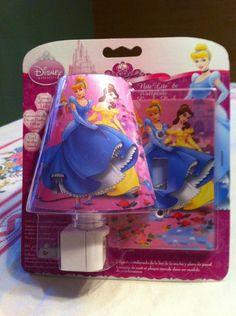 Amertac LED Nite Lite Night Light Wallplate Disney Princess NIP | eBay