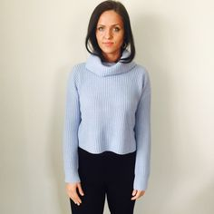 NWT BABY BLUE Beautiful Sweater. New. Comfy. Model 5'8 Forever 21 Sweaters Cowl & Turtlenecks