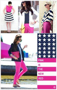 Navy + Pink + White