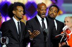 """(L-R) Actors Marlon Wayans, Keenen Ivory Wayans and Shawn Wayans of """"In Living Color"""" speak onstage at the 10th Annual TV Land Awards at the Lexington Avenue Armory on April 14, 2012 in New York City. - 10th Annual TV Land Awards - Show"""