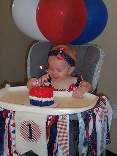4th of july 1st birthday cake
