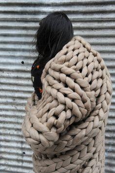 Yo sides 2/2 wool XXL giant Knitting yarn by Atelier4920