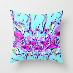 Mix #424 Throw Pillow by Ornaart - $20.00