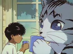 Manga Art, Manga Anime, Anime Art, Black Anime Characters, Anime Films, Vaporwave Wallpaper, Japanese Film, Old Anime, Gifs