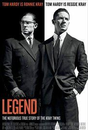 Legend (2015) 9/10 Seen this before but recently got it on bluray so it had to be rewatched.  Love this film, Tom Hardy is brilliant in both parts. A great telling of the kray twins!