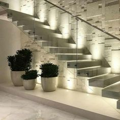 Interior design your home - 47 The Best Stairs Ideas To Interior Design Your Home – Interior design your home Interior Design Your Home, Home Stairs Design, Interior Stairs, Home Room Design, Modern House Design, Stair Design, Stair Walls, Modern Stairs, Floating Stairs