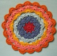 Crochet Mandala Wheel made by Mar, Germany, for yarndale.co.uk