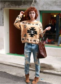 Korean Vintage Sweetie Pullover Sweater on BuyTrends.com, only price $24.30