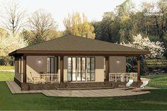 Фото 2: проект одноэтажный удобный дом с тремя спальнями и верандой