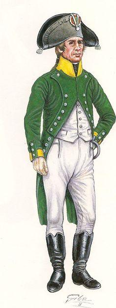 Soldado del Batallón de Carabineros.- 1801  Of...