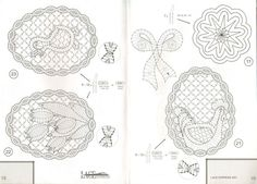 Lace Express 2001-04 Bobbin Lacemaking, Lace Art, Parchment Craft, Lace Jewelry, Lace Patterns, Lace Detail, Easter Eggs, Crafts, Fauna