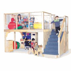 Play & Learn Classroom Loft - KWC-7500 - Toys Building Dress Up Furniture