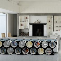 Scale is a contemporary furniture and lighting company committed to compelling and innovative home décor items. Its collection of coffee tables incorporates storage space into its design, and its eco-friendly clocks are chic, minimalist and colorful gems! Sectional Furniture, Modular Furniture, Contemporary Furniture, Furniture Design, Lowes Home, Beautiful Home Designs, Space Interiors, Home Decor Items, Storage Spaces