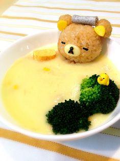 Rialkkuma stew takekayoda/kyaraben-japanese-style-lunchbox/ get back! Bento Recipes, Baby Food Recipes, Kawaii Cooking, Japanese Food Art, Japanese Style, Cute Baking, Cute Food Art, Good Food, Yummy Food