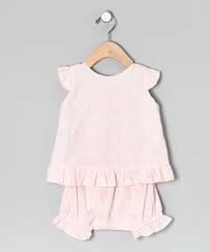 Take a look at this Pink Riley Top & Bloomers - Infant by Beehave on #zulily today!