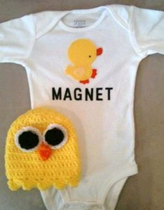 Easter outfit for baby boys  Chick Magnet onesie and by rbsDesigns, $36.00