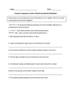 These commas worksheets are great for working with commas. Use these commas worksheets for the beginner and intermediate levels. Magic School Bus Videos, Magic School Bus Episodes, Transition Words Worksheet, Punctuation Worksheets, Number Worksheets, Writing Worksheets, 5th Grade Writing, Water Cycle, New Students