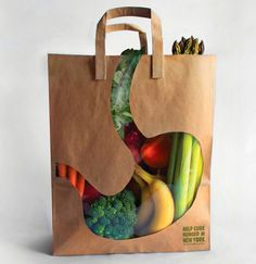 Grocery bag packaging.