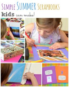 Simple Summer Scrapbooks Kids Can Make