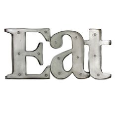 Accent your home décor with a vintage style, marquee lighted sign. Eat sign is…