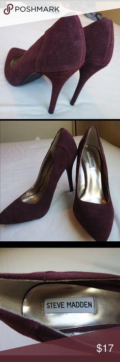 Steve Madden Maroon Heels In great condition ! Steve Madden Shoes Heels