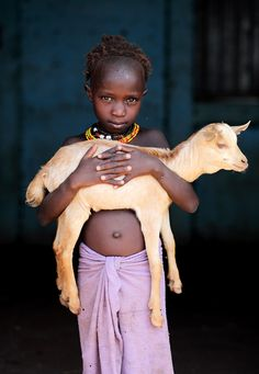 Africa. Please support www.Heifer.org. Your dollars purchase a goat which is given to a mother who can use the milk to  feed and educate her children, make home repairs and sell. The firstborn of the goat is then passed on to another mother and then another, and another which ends poverty.