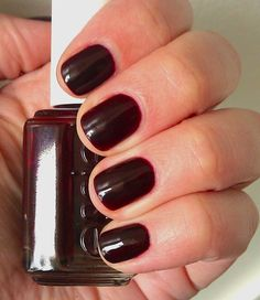 Essie: Wicked... I have this polish and it is really cool... one coat it looks deep red, layer on more coats and it can almost look black.