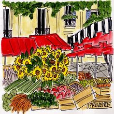 Provence Marche by fififlowers on Etsy
