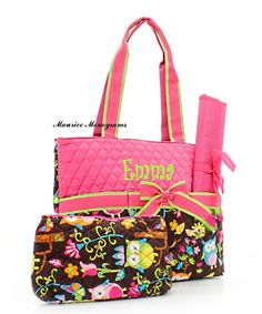 Hey, I found this really awesome Etsy listing at http://www.etsy.com/listing/95817404/personalized-owl-print-diaper-bag-set