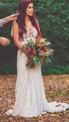 Why couldn't I look this pretty at my wedding! Wedding Goals, Boho Wedding, Dream Wedding, Wedding Day, Fall Wedding Hair, Wedding Stuff, Wedding Planning, Chelsea Deboer Wedding, Chelsea Houska Wedding Dress