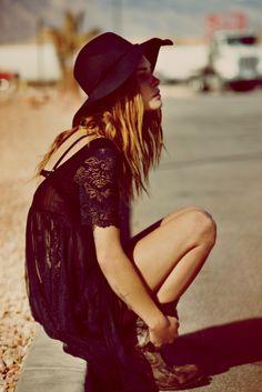 Erin Wasson,rock bohemian style