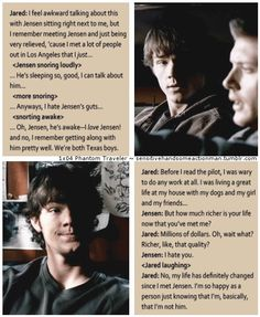 Jensen and Jared <3 XD