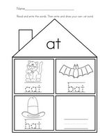 Word Family Houses #Free #Printable #Worksheets from Mrs. Ricca's #Kindergarten: #Alphabet #homeschool