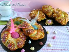 Monas de Pascua (Panificadora y Thermomix) Doughnut, Shrimp, Breads, Meat, Desserts, Sweets, Best Recipes, Cooking, Postres