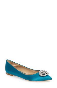 b5d2b1d3e3f Badgley Mischka  Davis  Crystal Embellished Pointy Toe Flat (Women)  available at