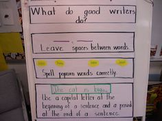 """good writers do..... - lots of great anchor charts & journaling stages will fit with """"whats next for the beginning writer"""" perhaps"""