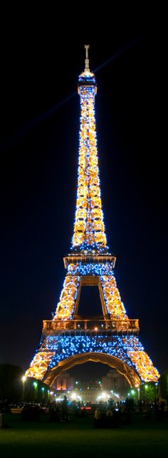 France - Paris - Eiffel Tower at night