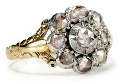 A Georgian flower antique engagement ring