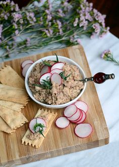 healthful spring appetizer made with fava beans and goat cheese.