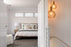 #masterbedroom #bedroom #mastersuite #woodenbed #coastalbedroom #pendantlight