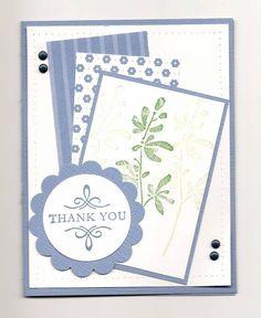 CAS blue Thank You card