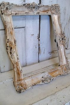 Large frame ornate cream and gold distressed by AnitaSperoDesign